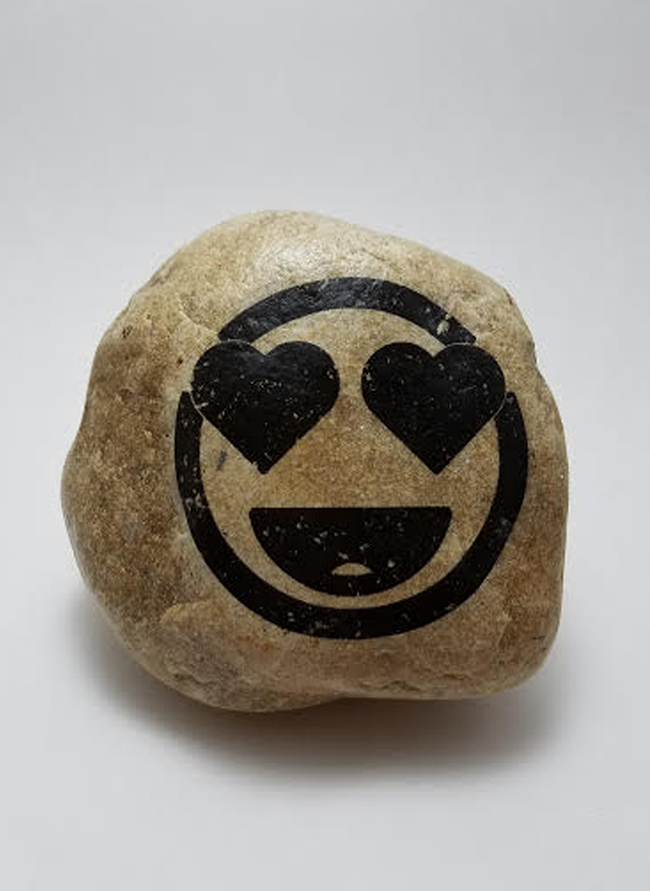 Ms. Heart Face Rock, Send This Emoji Rock To A Person For